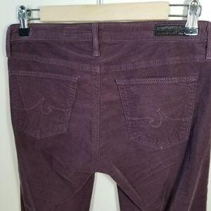 Ag Adriano Goldschmied Pants - Adriano Goldshmied | plum corduroy skinny leggings